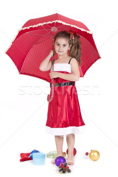 Ombrello bambina Natale bambino Foto d'archivio © jarp17