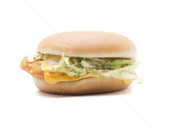 Tavuk Burger lezzetli hamburger peynir et Stok fotoğraf © jarp17