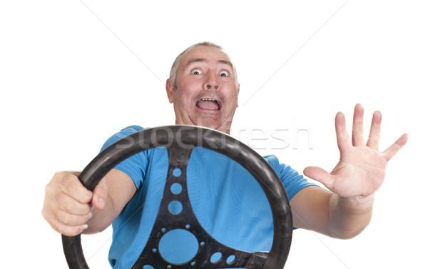 Korkmuş adam tehlike çarpışma araç Stok fotoğraf © jarp17