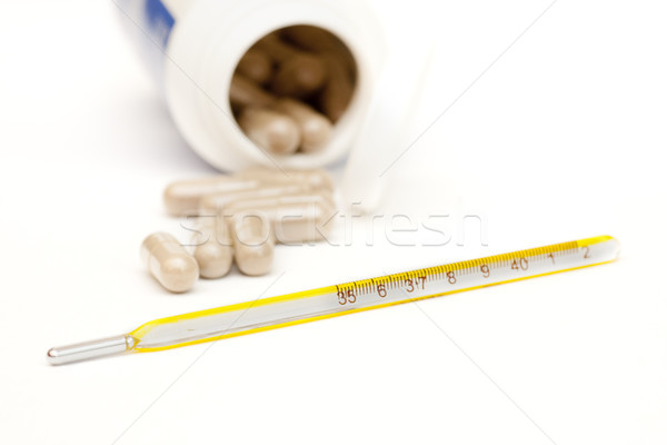 thermometer and pills Stock photo © jarp17