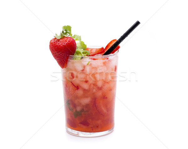 Vermelho morango mojito um famoso tiro Foto stock © jarp17