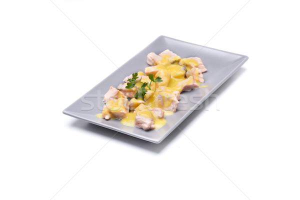 Somon zarlar sebze yemek zengin omega 3 Stok fotoğraf © jarp17
