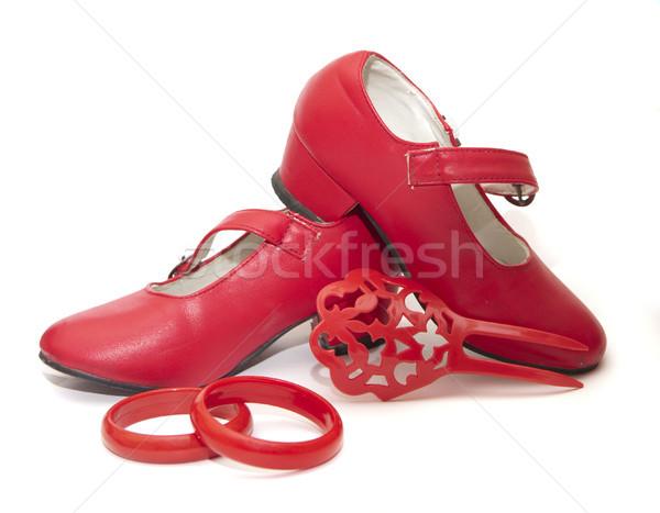 Flamenco vários vestir moda vermelho dançarina Foto stock © jarp17