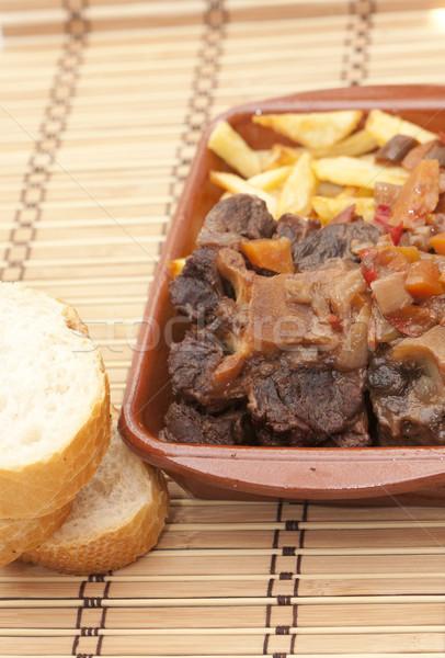 Byka ogon typowy hiszpanski chipy Zdjęcia stock © jarp17