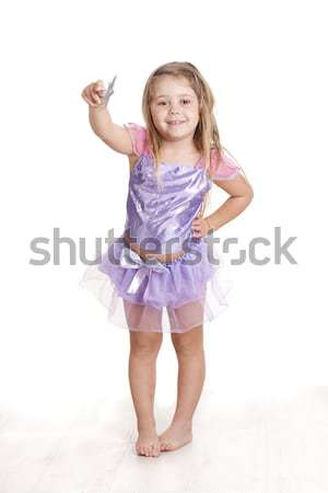 Mágikus szőke nő lány tündér jelmez csillag Stock fotó © jarp17