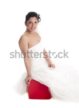 Stock photo: sitting bride