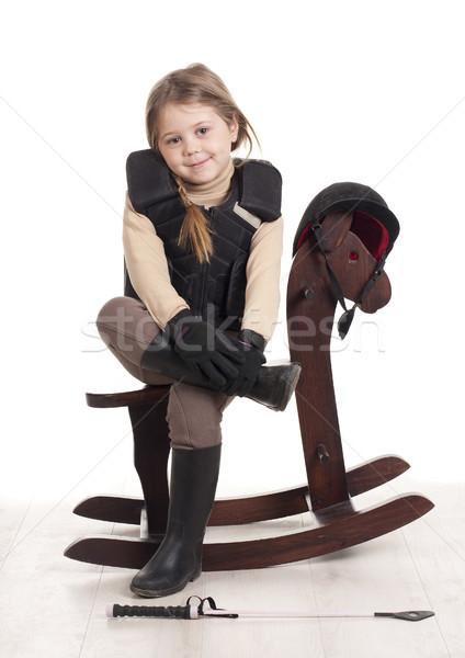 horse wooden Stock photo © jarp17