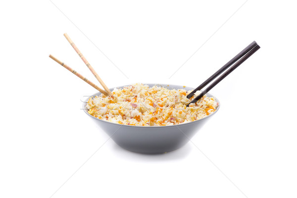 Rijst aromatisch kom basmati ei chinese Stockfoto © jarp17