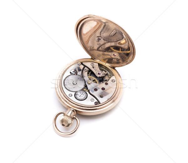 Zsebóra gép arany klasszikus óra fém Stock fotó © jarp17