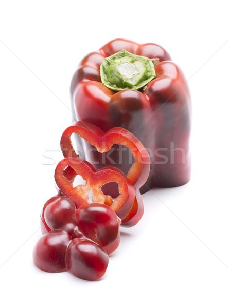 ломтик перец свежие красный растительное Сток-фото © jarp17