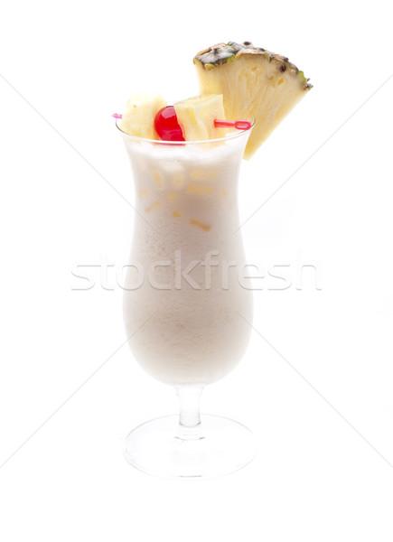 Tipik kokteyl cam kırmızı limon gaz Stok fotoğraf © jarp17