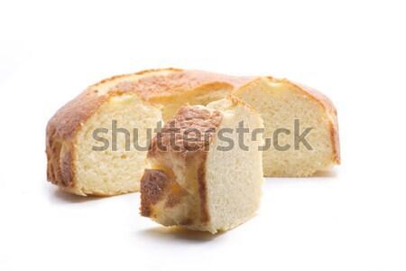 Kek lezzetli ev yapımı kahvaltı beyaz Stok fotoğraf © jarp17