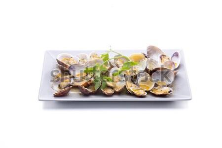 Yemek çanak stüdyo soğan deniz ürünleri Stok fotoğraf © jarp17