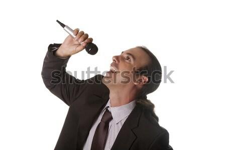 Cantante hombre realizar canción música sonido Foto stock © jarp17