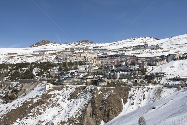 Nevada Kayak başvurmak güney İspanya gökyüzü Stok fotoğraf © jarp17