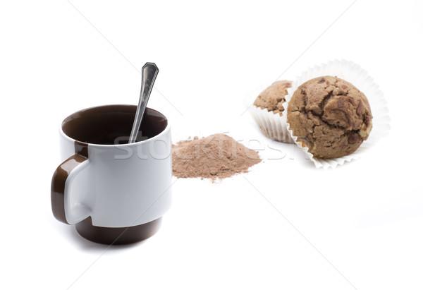 Fincan kahve kahvaltı içmek Stok fotoğraf © jarp17