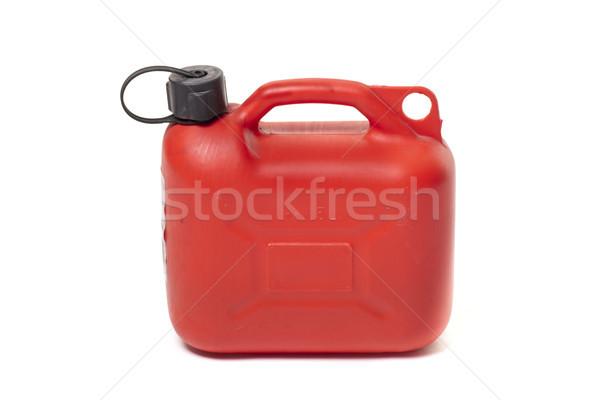 Czerwony pojemnik benzyny pojemność studio Zdjęcia stock © jarp17