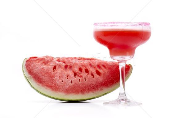 Anguria tipico cocktail frutta vetro ghiaccio Foto d'archivio © jarp17