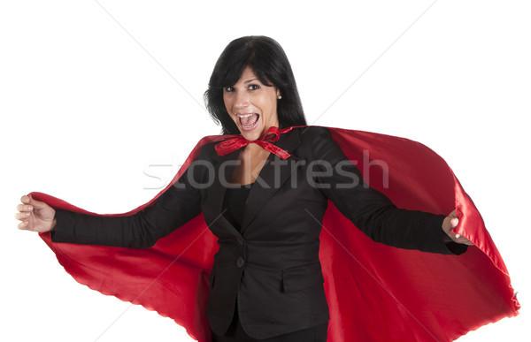 Donna imprenditore determinato felice Foto d'archivio © jarp17