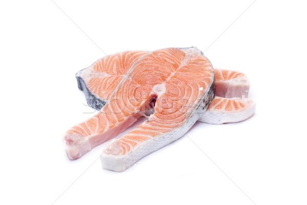 Fresco salmão dois fatias peixe rico Foto stock © jarp17