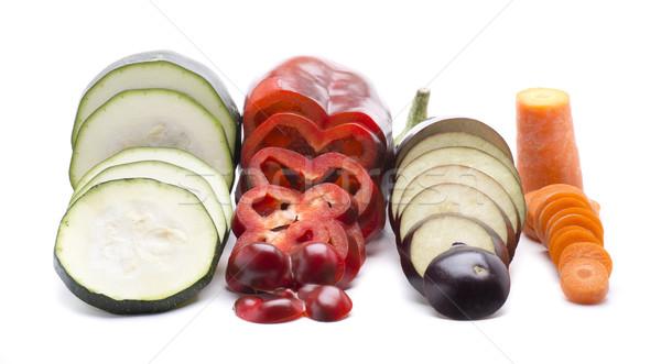 Quatro fatia saudável legumes frescos Foto stock © jarp17