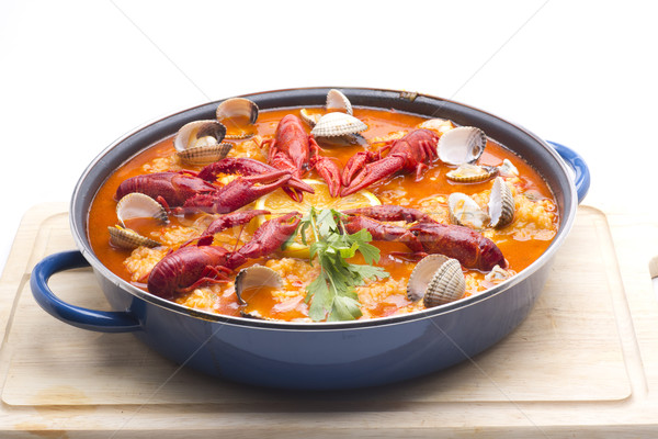 seafood paella Stock photo © jarp17