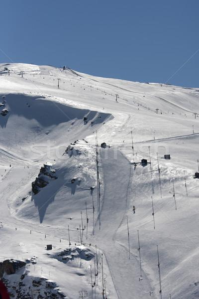 Sípálya sí üdülőhely sport hó hegy Stock fotó © jarp17