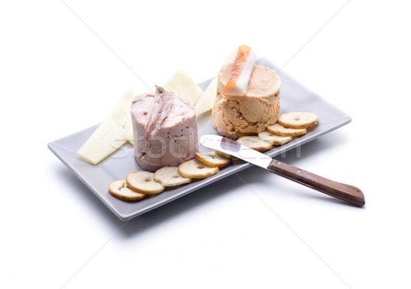 Iki bir deniz ürünleri peynir gıda Stok fotoğraf © jarp17