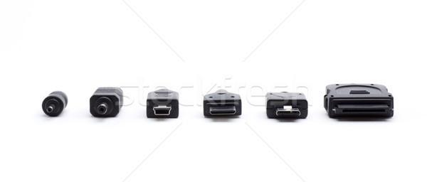 Néhány különböző kapcsolatok összes telefonok technológia Stock fotó © jarp17