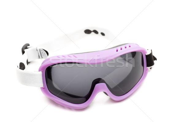 Szemüveg sí visel szem védelem gyakorlat Stock fotó © jarp17