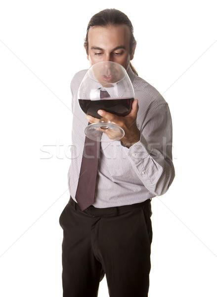 гигант сомелье дегустация стекла вино Сток-фото © jarp17