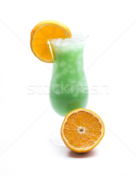 Kokteyl meyve turuncu cam mavi stüdyo Stok fotoğraf © jarp17