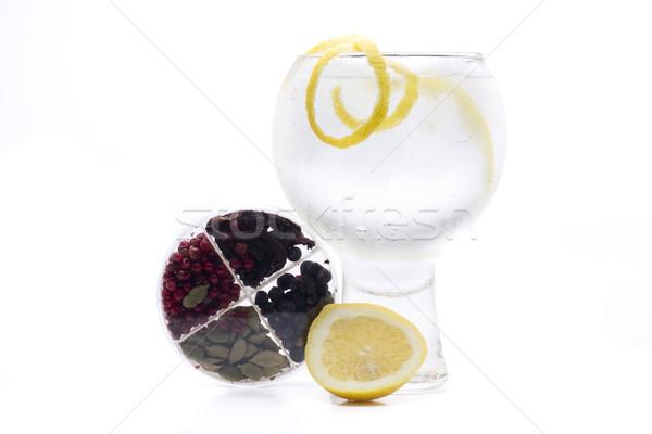 ジン 1 有名な ガラス 白 ストックフォト © jarp17