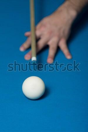 Taking Aim To Shoot The One Ball Stock photo © Jasminko