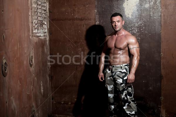 портрет тело мужчин власти Cool мужчины Сток-фото © Jasminko