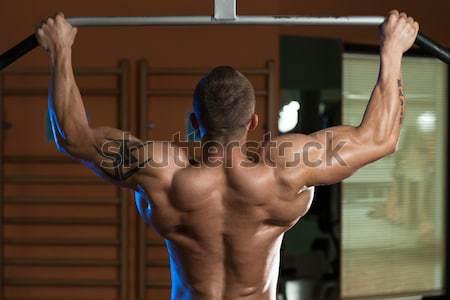 Ausbildung Fitnessstudio Partner Ermutigung Mann Sport Stock foto © Jasminko