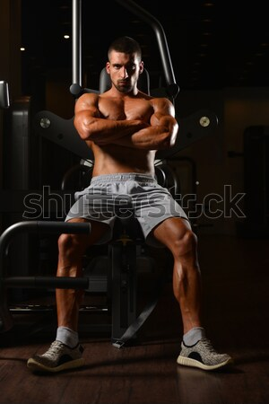 Chest Workout Cable Crossover Stock photo © Jasminko