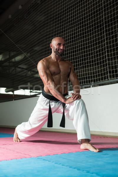 Küzdősportok férfi kimonó testmozgás karate férfi Stock fotó © Jasminko