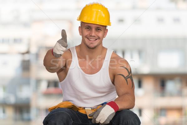 Smiling Contractor Showing Thumb Up Stock photo © Jasminko