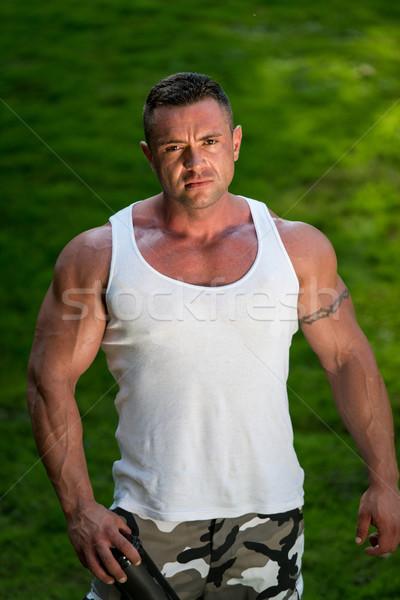 Hombre proteína Shake verano Foto stock © Jasminko