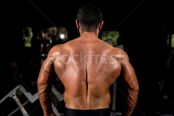 Muscular musculação de volta homem corpo Foto stock © Jasminko