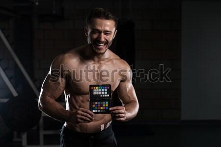 Bodybuilder crossfit opleiding mannelijke lifestyle Stockfoto © Jasminko