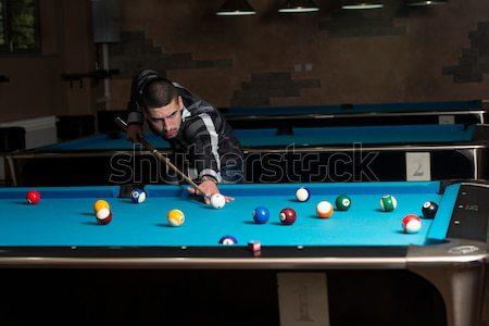 Couple Playing Billiard Stock photo © Jasminko