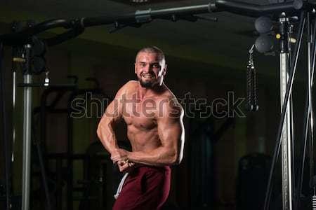 Muscular musculação lado tricípite homem Foto stock © Jasminko