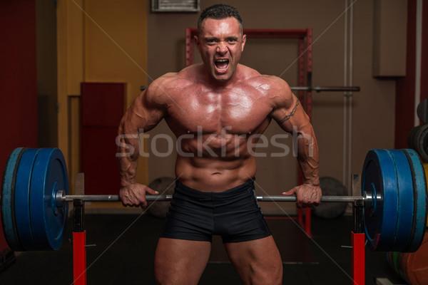 приветствую ад спортзал мужчин власти туловища Сток-фото © Jasminko