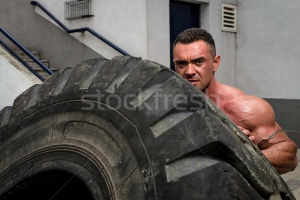 Crossfit képzés férfiak férfi súly életstílus Stock fotó © Jasminko