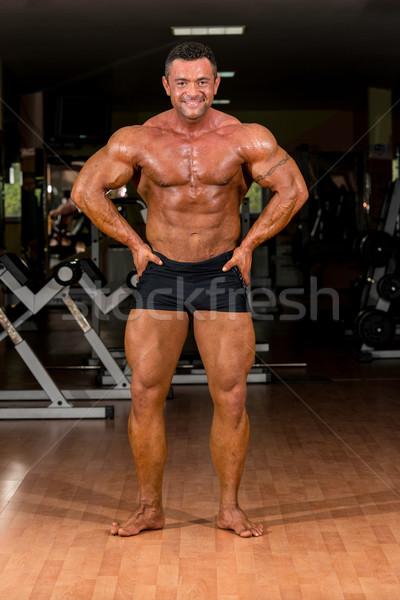 male body builder showing his body Stock photo © Jasminko