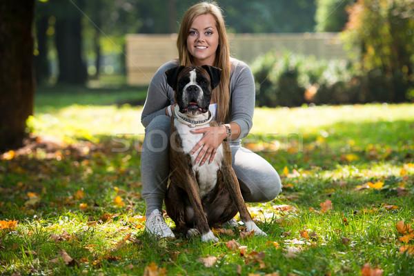 Women Holding Dog Stock photo © Jasminko