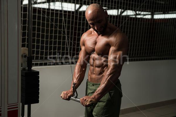 Zdrowych człowiek triceps zdrowia klub Zdjęcia stock © Jasminko