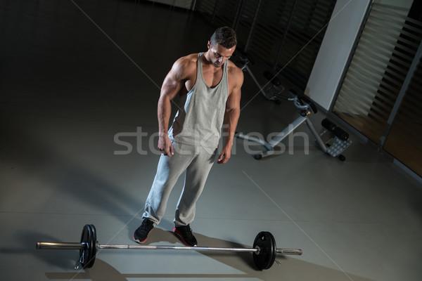 Rij oefening Maakt een reservekopie sport gymnasium mannen Stockfoto © Jasminko